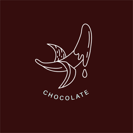 Vector icon and logo for chocolate and sweet. Editable outline stroke size. Line flat contour, thin and linear design. Simple icons. Concept illustration. Sign, symbol, element. Stock Vector - 114159324