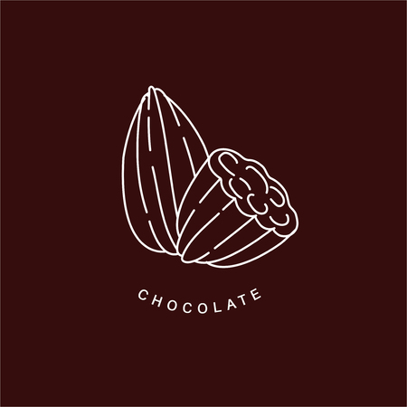Vector icon and logo for chocolate and sweet. Editable outline stroke size. Line flat contour, thin and linear design. Simple icons. Concept illustration. Sign, symbol, element. Stock Vector - 114159325