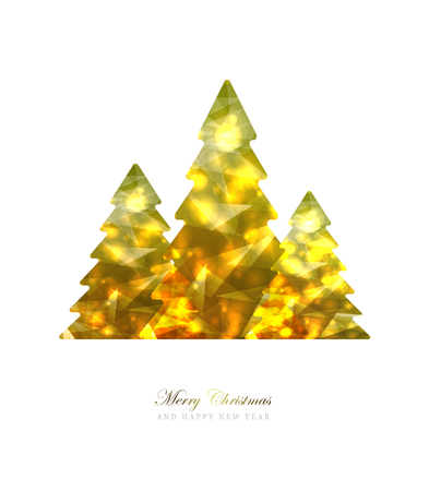 Elegant Christmas and happy New Year Background with Gold Shining decoration. Vector illustration Banque d'images - 126752697