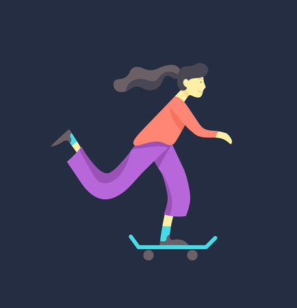 People enjoying their hobbies. Vector character. Colorful flat concept illustration.