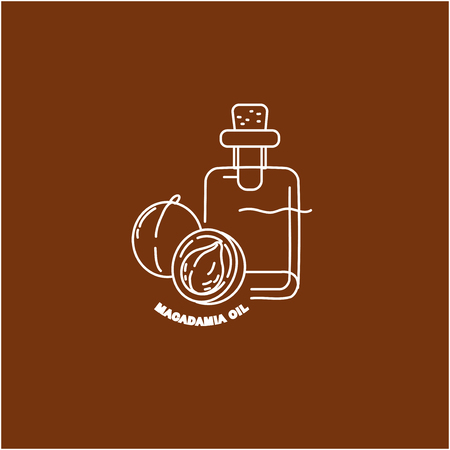 Vector icon for natural cosmetics oil care dry skin. Editable outline stroke size. Line flat contour, thin and linear design. Simple icons. Concept illustration. Sign, symbol, element.