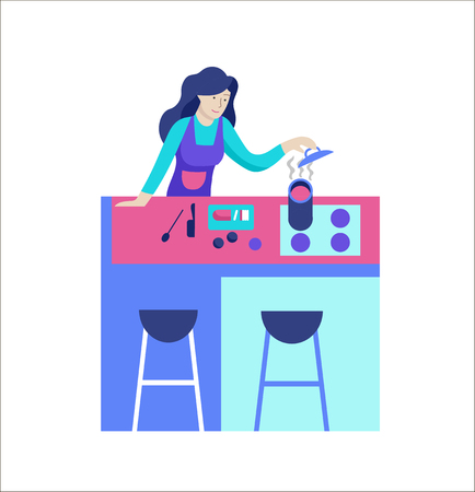 People enjoying their hobbies. Vector character. Colorful flat concept illustration. Stock Vector - 126353490