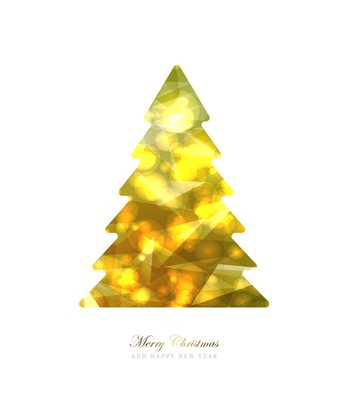 Elegant Christmas and happy New Year Background with Gold Shining decoration. Vector illustration Stock Vector - 126353525