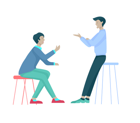 Businessmen making handshake, business etiquette, merger concepts office workers, clerks or managers talking to each other, discussing, depressed Tired male and female office workers sitting, sleeping