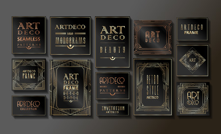 Luxury Vintage Artdeco Frame Design. Vector illustration Vectores
