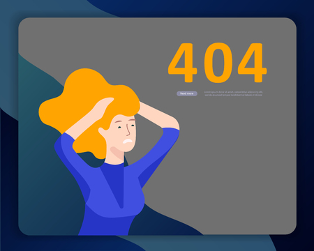 Landing page templates Error page illustration with People characters and cat. Page not found. Vector concept illustration for 404 error with Funny cartoon workers