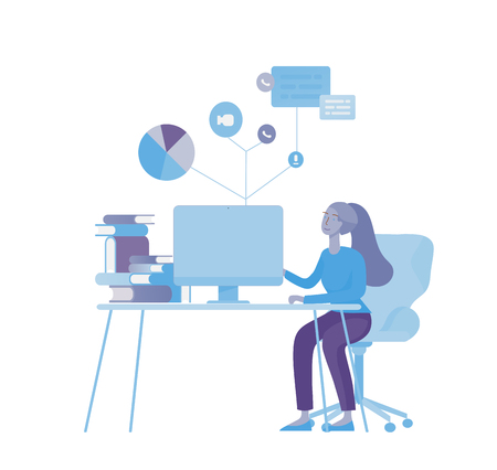 office concept business people for project management, business, workflow and consulting. Modern vector illustration flat concepts character for website and mobile website development. Ilustração