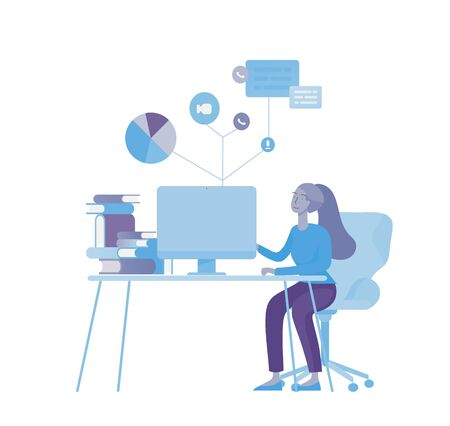 office concept business people for project management, business, workflow and consulting. Stock Vector - 126559384