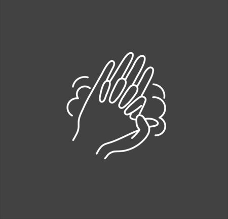 Hand hygiene line icon. Simple Minimal Pictogram. Personal hygiene, disease prevention and healthcare hand washing.