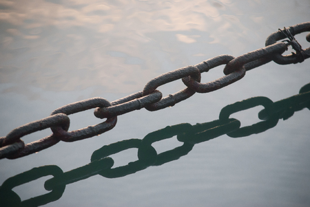 Chain above water