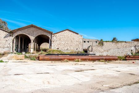 abandon: abandon factory entrance