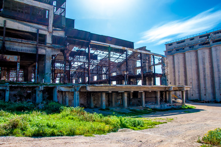 abandon factory Stock Photo