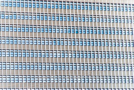 horizontal image of cement tall building with windows Stock Photo