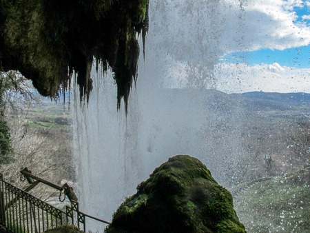 horizontal image of a waterfall