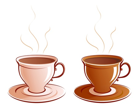 Vector illustration of coffee or tea cups. Stock Vector - 20242650