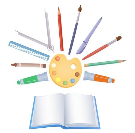 Vector school supplies - design elements. Stock Vector - 20242652