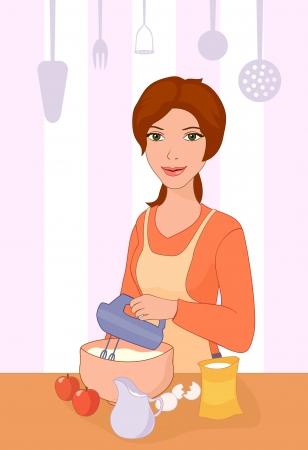 Ilustración vectorial de una hornada de la niña.