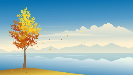 Vector illustration of a fall background  Vector