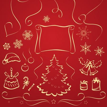 Vector illustration of Christmas design elements Stock Vector - 21736169