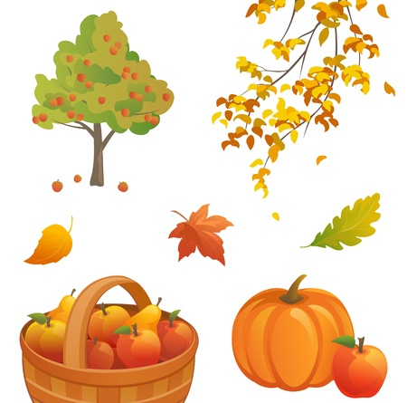 Vector autumn nature design elements Stock Vector - 21736157