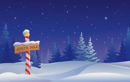 북극 기호 벡터 크리스마스 그림