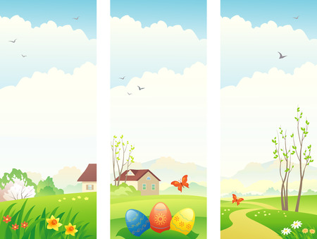 Vector Easter and spring vertical banners Stock Vector - 26697659