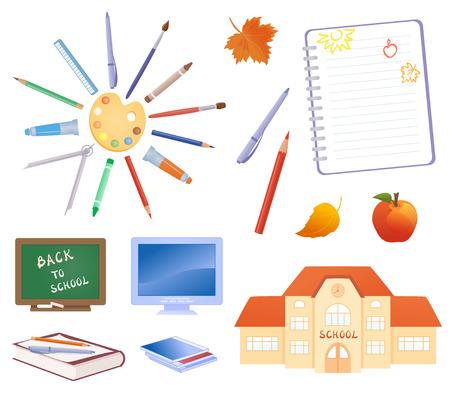 Vector illustration of school design elements Vector