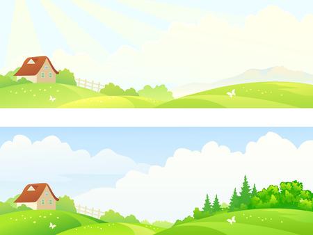 accidentado: Ilustraci�n vectorial de un paisaje monta�oso