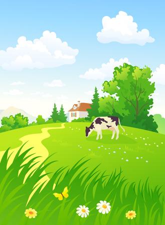垂直の田園風景