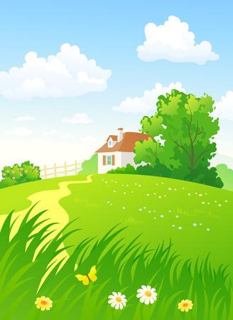 verticales: Campo del verano verticales Vectores