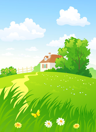 Summer countryside vertical