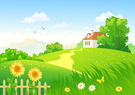 garden path: Summer countryside