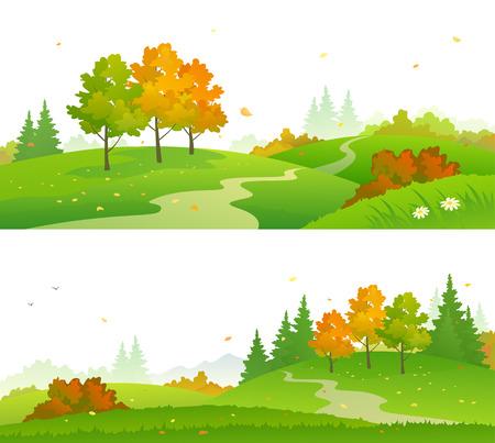 Colorful autumn forest. Ilustrace