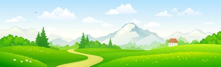 Mountain forest panoramic landscape