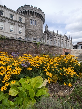 Dublin castle from the garden, Ireland