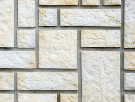 Detail of the stone wall texture