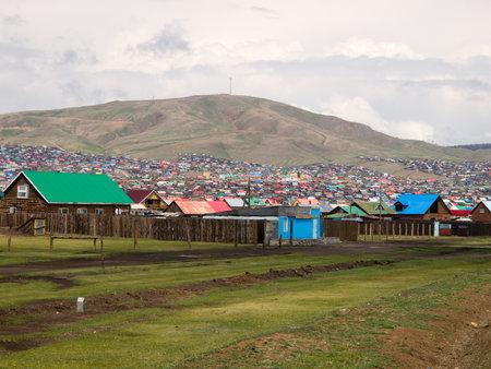 mongolian: Erdenet, Mongolia, May 25, 2011 - Part of the mongolian Erdenet city