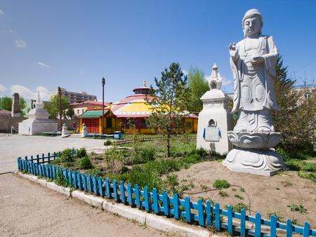Dashchoilon Khiid buddhist monastery in Ulaanbaatar, Mongolia Stock Photo
