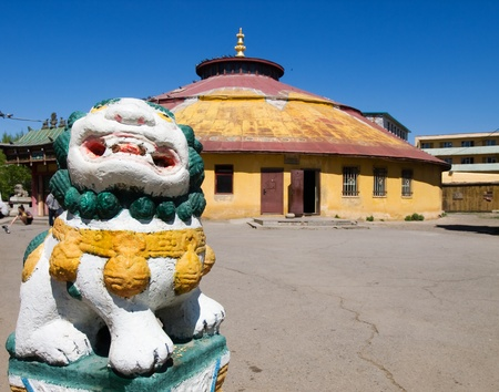 Dashchoilon Khiid buddhist monastery in Ulaanbaatar, Mongolia Standard-Bild