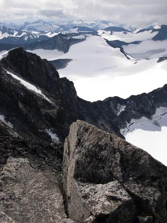 np: Jotunheimen NP from mountain Galdhopiggen, Norway