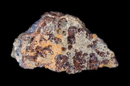 sphalerite: Red sphalerite crystals from Pribram, Czech republic Stock Photo