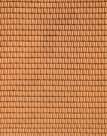 rooftiles: Detail of terracotta roof tiles Stock Photo