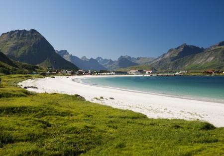 lofoten: Bay with sand beach, Lofoten, Norway
