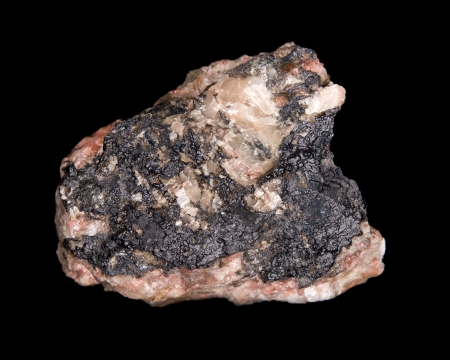 Uranium ore (uraninite) from Pribram, Czech republic
