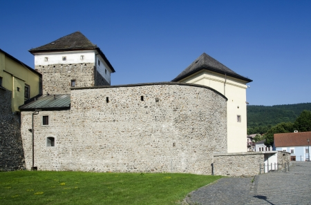 Medieval walls of town Kremnica, Slovakia