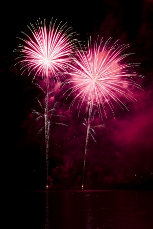 Celebration with colorful fireworks show Stock Photo - 14806146