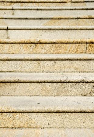 Detail of historic granite staircase photo