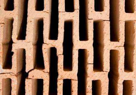 hollow walls: Detail of modern hollow brick Stock Photo