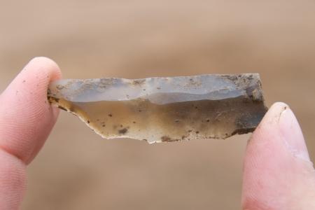 neolithic: Reci�n encontrado s�lex neol�tica hoja