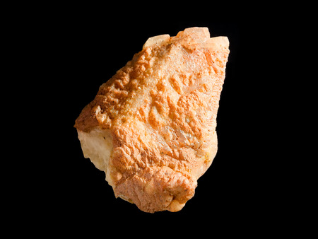 calcite: Crystal of orange scalenohedral crystal
